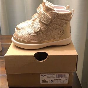 Toddler Girl Ugg Gold Sparkle Sneakers